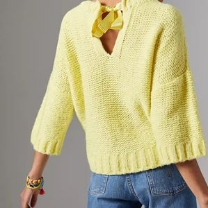 NWT Maeve Cecile Bow-Back Sweater